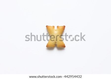 English alphabet made from bread.Letters of the British alphabet made of gingerbread. The letter x - stock photo