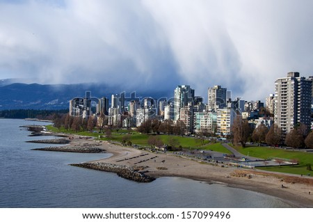 English Bay and the West End, Vancouver - stock photo