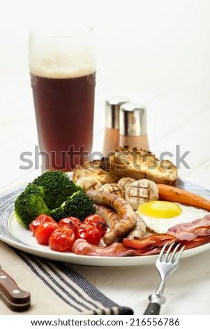 English breakfast - stock photo