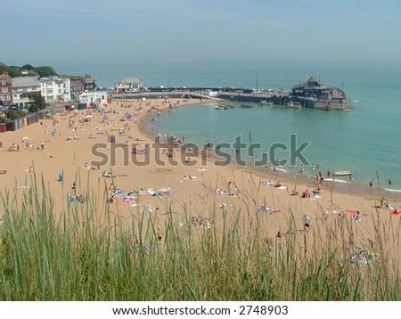 English coastline - stock photo