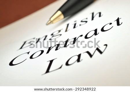 English Contract Law - stock photo