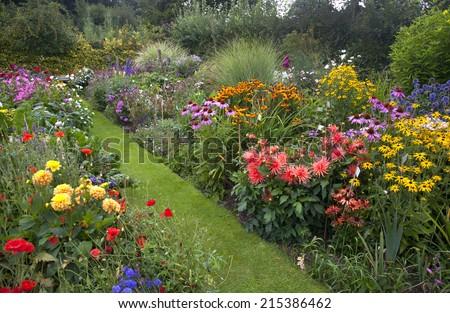English Cottage Garden - stock photo