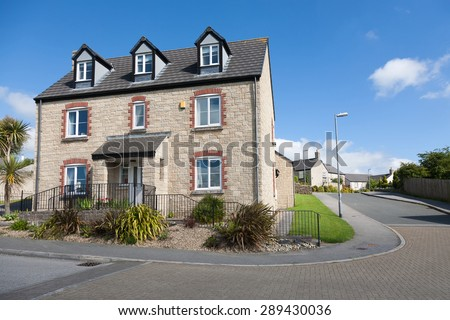 English detached house - stock photo