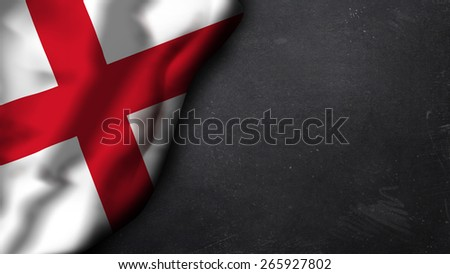 english flag on a chalkboard - stock photo
