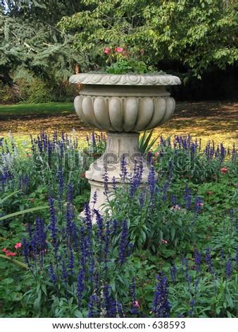 English garden - stock photo