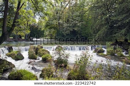 English Garden / Englischer Garten munich germany - stock photo
