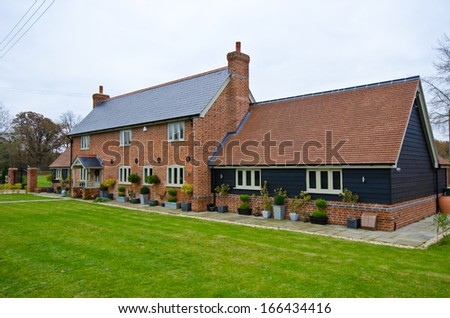 english house - stock photo