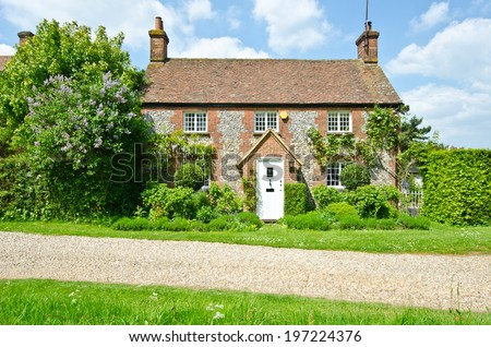 English house - stock photo