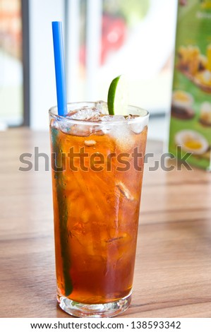 English iced tea for  healthy drinking
