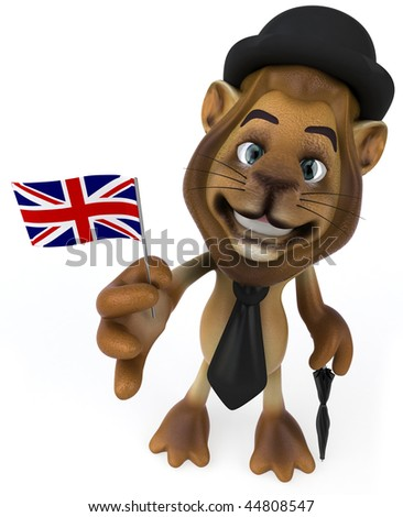 English lion - stock photo