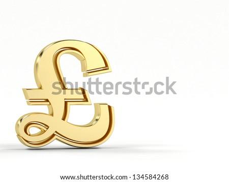 English Pound Symbol 3 D Render Stock Illustration 134584268