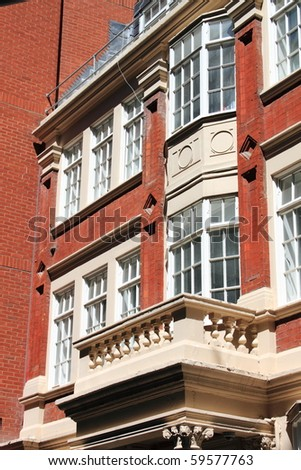 English red brick mansion - stock photo