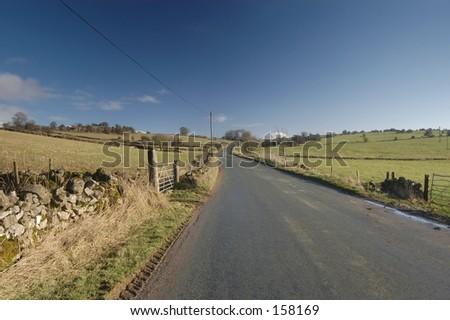 English Rural Road - stock photo