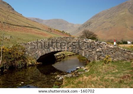 English Stone Bridge - stock photo