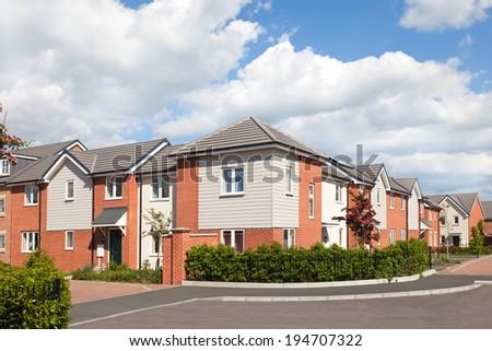 English street view - stock photo