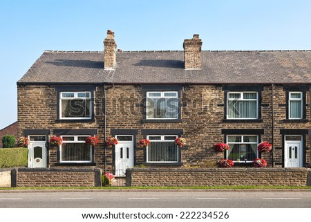Terraced houses stock photos images pictures for English terrace