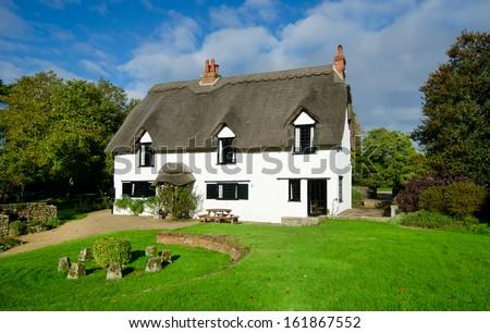 English Village Cottage - stock photo