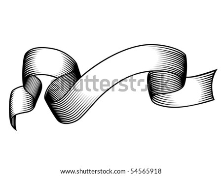 engraved banner - stock photo
