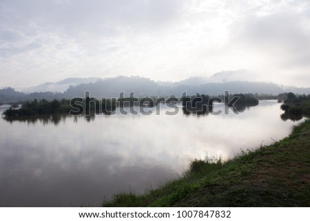 Enjoy the beautiful morning mist along the Mekong River
