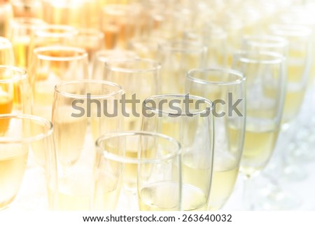 Enjoy with wine party during sunset. - stock photo