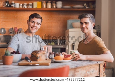 Enjoying a healthy breakfast together