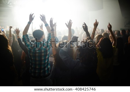 Enjoying live concert - stock photo