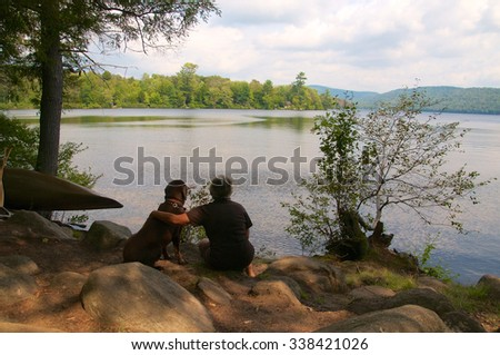 Enjoying the moment with my best friend - stock photo