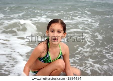 Enjoying the Water - stock photo