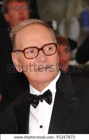 "Ennio Morricone at screening for ""We Own the Night"" at the 60th Annual International Film Festival de Cannes. May 25, 2007  Cannes, France.  2007 Paul Smith / Featureflash - stock photo"