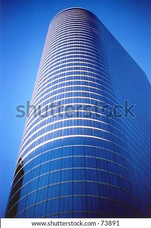 Enron Building, Downtown Houston - stock photo