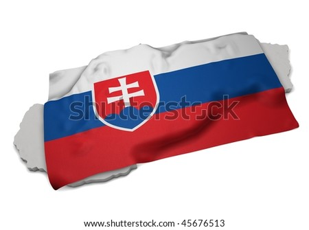 ensign covering the shape of slovakia