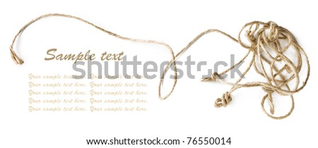 Entangled rope frame with sample text - stock photo