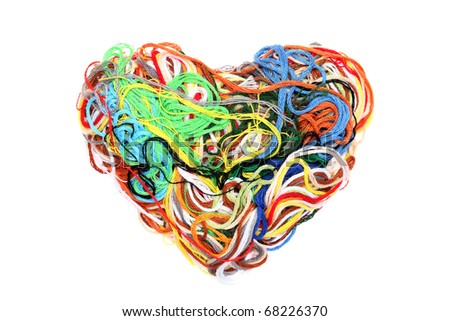 Entangled threads - stock photo