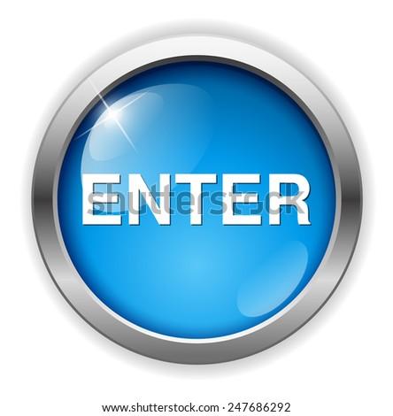 enter button - stock photo