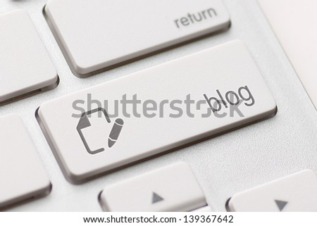 enter button key on white keyboard - stock photo