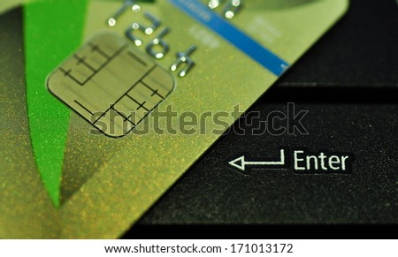 Enter  for  Credit cards - stock photo