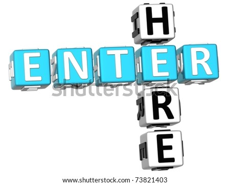 Enter Here Crossword - stock photo