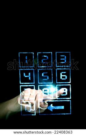enter secret code - stock photo