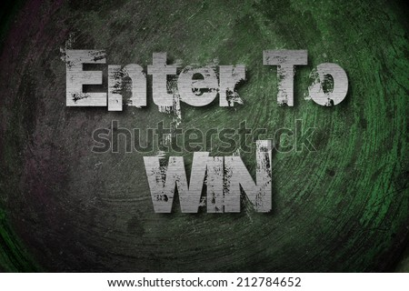 Enter To Win Concept text on background - stock photo