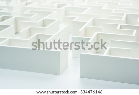 Entering the maze. Concept for decision-making - stock photo