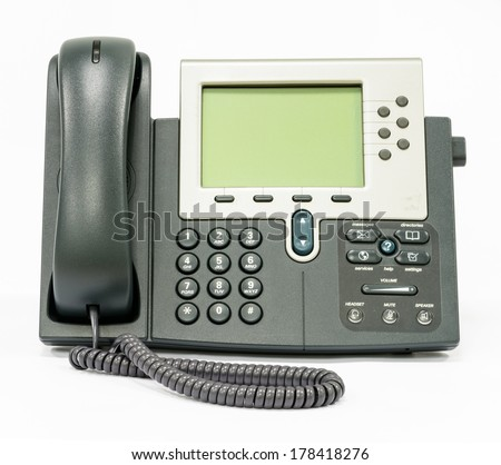 Enterprise IP Telephone and Advance Keypads - stock photo