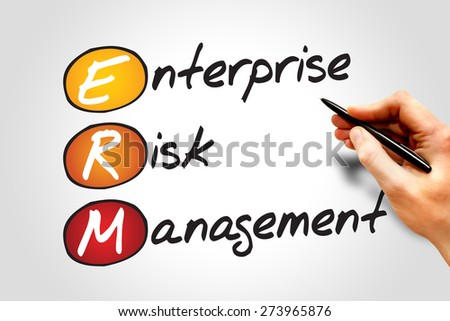 Enterprise Risk Management (ERM), business concept acronym - stock photo