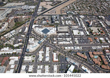 Entertainment and Nightlife area of Old Town Scottsdale - stock photo
