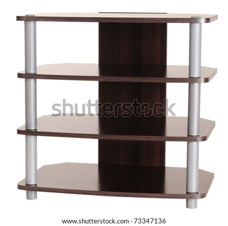 Entertainment cabinet. Isolated - stock photo