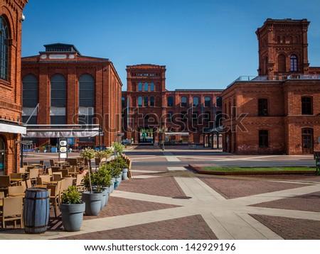 Entertainment center in Lodz, Poland - stock photo