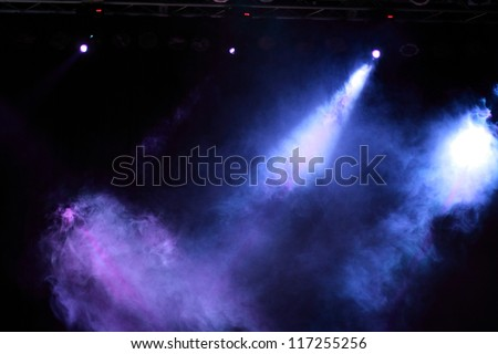 Entertainment concert lighting - stock photo