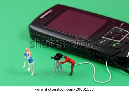 Entertainment for mobile phones - stock photo