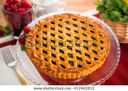 Entire whole raspberry mixed berry pie tart modern delicious beautiful clean dessert