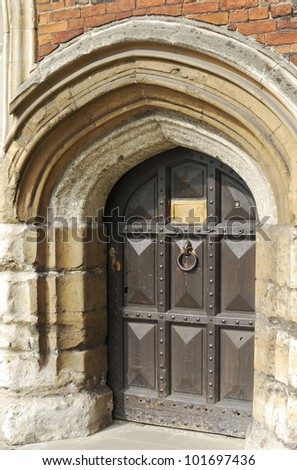 Entrance doorway to Lambeth Palace (home to Archbishop of London). London. England