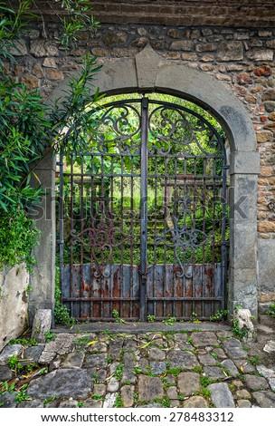 Entrance gate - stock photo